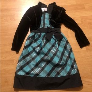 jessica ann holiday dress size  6x blue